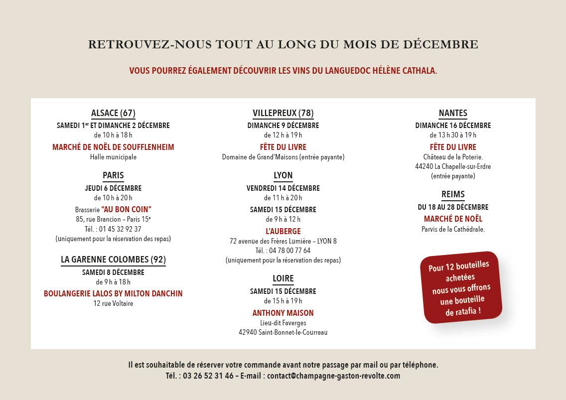 Meilleurs Vœux pour Noël 2018 de la part des Champagnes Gaston Révolte